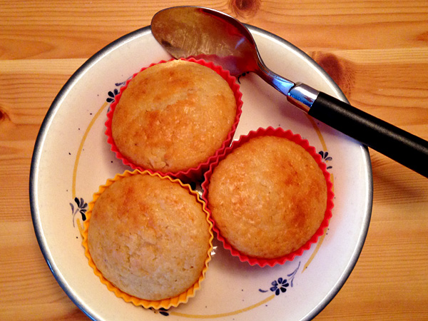You don't actually need a spoon to eat these yogurt muffins.